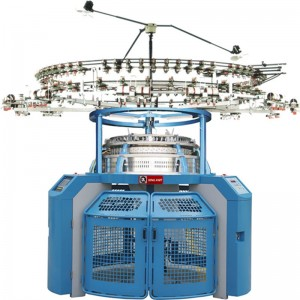 Corea 4 track single jersey jacquard circular crosting machine